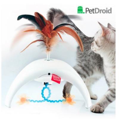 """GiGwi PetDroid Интерактивная игрушка  для кошек """"Фезер Спиннер"""" со звуковым чипом"""