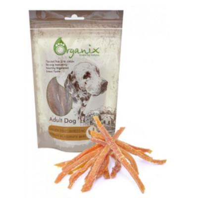 Органикс Лакомство для собак «Нарезка из куриного филе»  100% мясо 100 гр