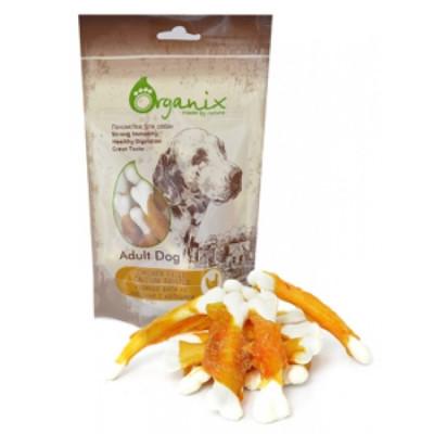 Органикс Лакомство для собак «Куриное филе на косточке с кальцием»100% мясо 100 гр