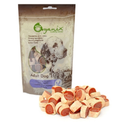 Органикс Лакомство для собак «Рулетики из курицы и рыбы» 100% мясо 100 гр