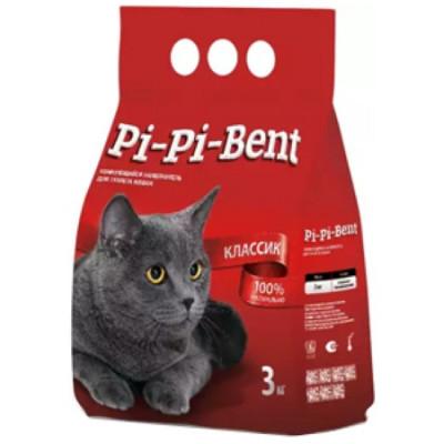 Наполнитель Pi-Pi-Bent Классик комкующийся для кошек (пэ пакет) 3кг 7л