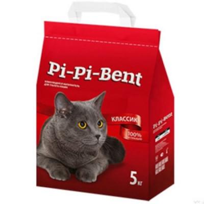 Наполнитель Pi-Pi-Bent Классик комкующийся для кошек 5кг 12л