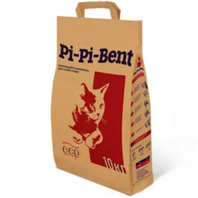 Наполнитель Pi-Pi-Bent Классик комкующийся для кошек (бумажный пакет) 10кг 24л