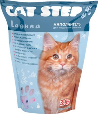 Cat Step  Наполнитель силикагель Лагуна 1,81кг3,8л(НК-012)