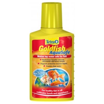 Tetra AquaSafe Goldfish Препарат для приготовления воды, пригодной для холодноводных аквариумных рыб 100мл