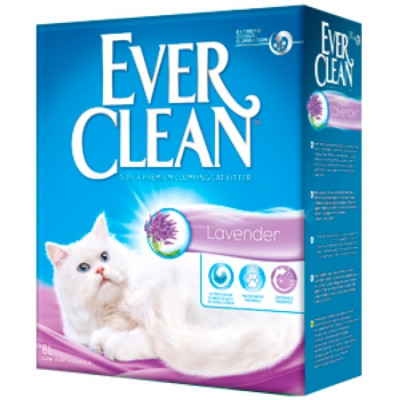 EVER CLEAN Lavander Наполнитель для кошек с ароматом Лаванды 6кг