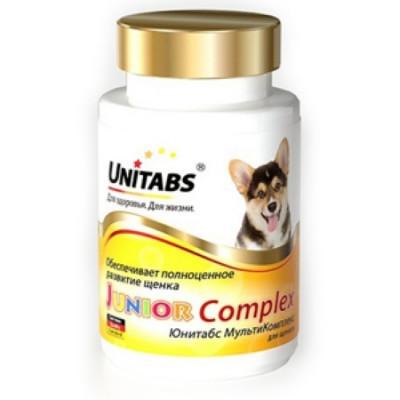 UNITABS JuniorComplex с В9 для щенков ежедневные 100 таб
