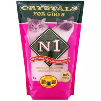 Наполнитель №1 Crystals For Girls  силикагелевый 5 л (розовый)