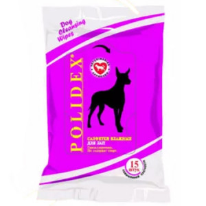 POLIDEX Влажные салфетки для лап 15шт