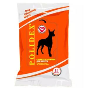 POLIDEX Влажные салфетки для шерсти 15шт