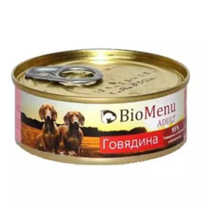 BioMenu ADULT Консервы для собак говядина 95%-мясо 100гр