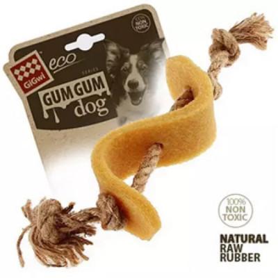 -GiGwi GUM GUM DOG Игрушка Доллар для больших и средних собак из эко-резины и натуральных материалов
