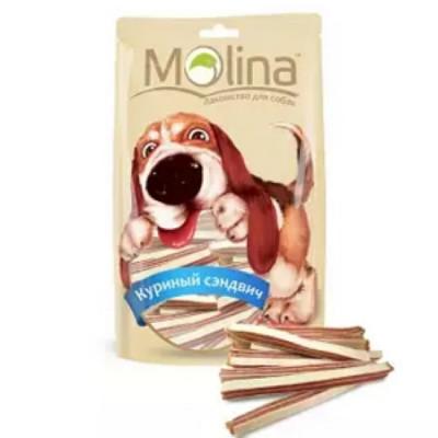 Молина Лакомство для собак Куриный сэндвич 80гр