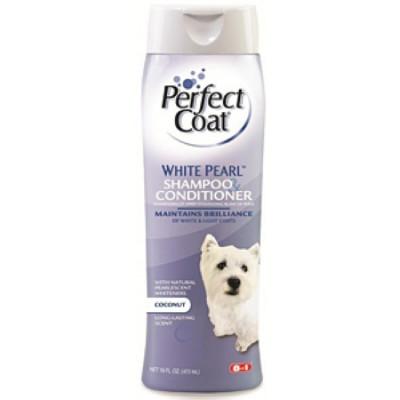 8 in1 Shampoo White Pearl шампунь-кондиционер для собак светлых окрасов 473 мл