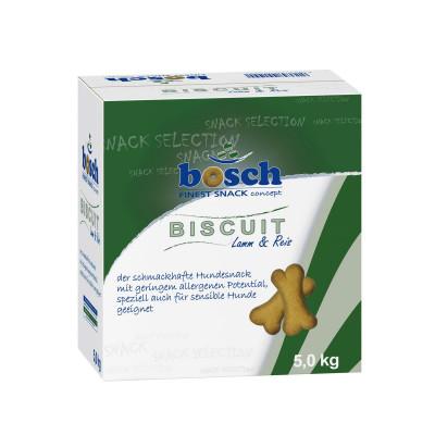 Бош Лакомство для собак склонных к аллергии Бисквит Ягненок с рисом Bosch Biscuit (для укрепления десен) 5 кг арт.21929