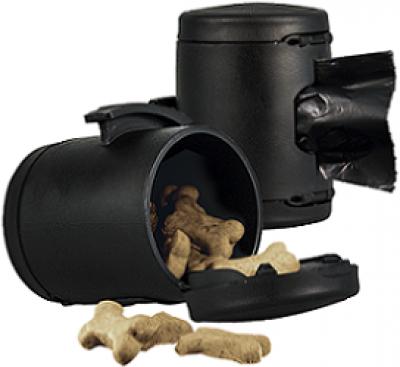 -flexi аксессуар Multi box S-М/L (бокс для лакомств или пакетиков для сбора фекалий) черный арт.23709