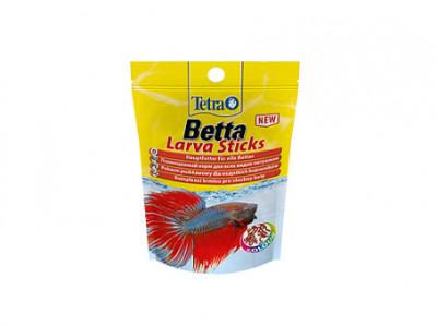TetraBetta LarvaSticks корм в форме мотыля для петушков и других лабиринтовых рыб 5 г (sachet)