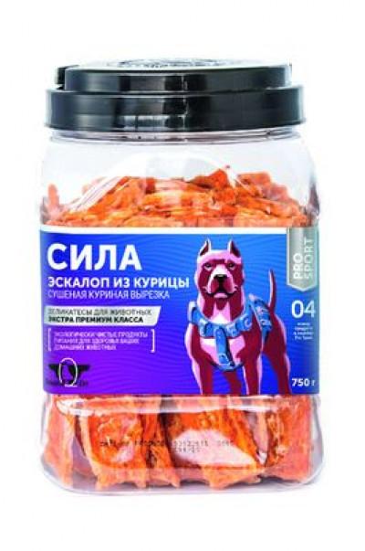 -Грин Кьюзин Лакомство для собак Сила (сушеная куриная вырезка) туба 750гр