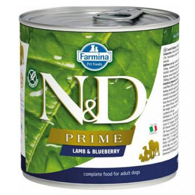 Фармина (Farmina N&D Prime) консервы для собак Ягненок с черникой 285гр арт. 41100