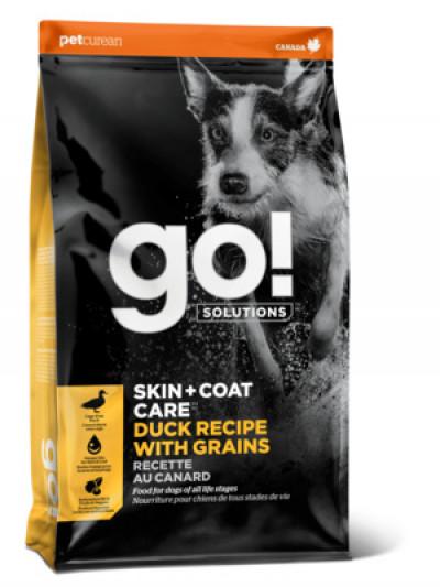 GO! SKIN + COAT CARE DUCK RECIPE FOR DOGS Корм для Щенков и Собак с Цельной Уткой и овсянкой 1,59кг арт.42306