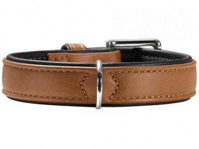 -Hunter ошейник для собак Canadian 40 (29-35 см) кожа лося коньячно-черный