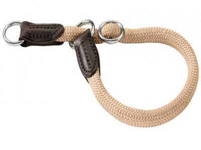 Hunter ошейник-удавка для собак Freestyle 60/10 нейлоновая стропа бежевый