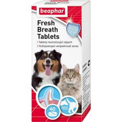 -Беафар Средство для животных  от запаха пасти «Fresh Breath  Tablets» 40 таб