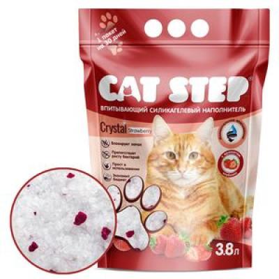 Cat Step  Наполнитель силикагель с ароматом клубники 1,81кг3,8л (HK-017)