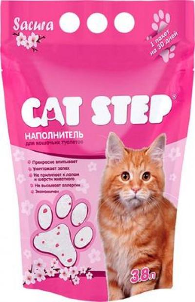 Cat Step  Наполнитель силикагель Сакура 1,81кг3,8л(НК-011)