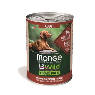 Monge Dog BWild Grainfree ADULT консервы из ягненка с тыквой и кабачками для собак всех пород 400г  арт.70012614