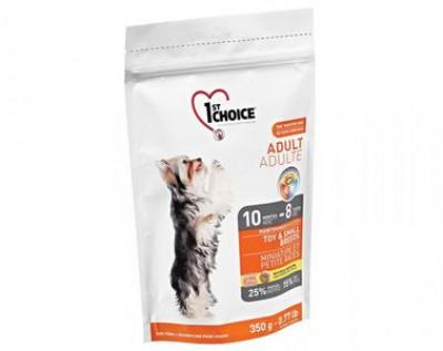 1ST CHOICE сухой корм для собак миниатюрных и мелких пород с курицей 350 гр арт.102.312