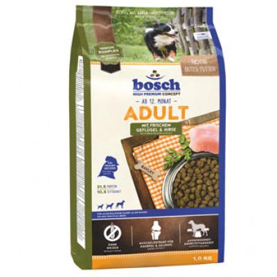 Bosch Adult с птицей и просом сухой корм для собак 1 кг арт.5207001