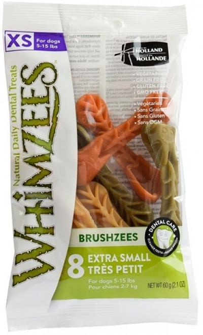 -Whimzees VET лакомство для чистки зубов Дентал Браш для собак XS 7 см 8 шт в блистере арт. 53606