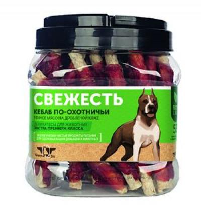 -Грин Кьюзин Лакомство для собак Свежесть (сушеные утиные твистеры) туба 750гр