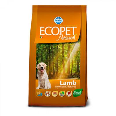 Фармина (Ecopet Natural Lamb) корм для взрослых собак с ягненком 12 кг арт. 56318