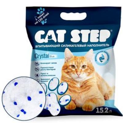 Cat Step  Наполнитель силикагель 7,24кг 15,2л (НК-018) арт.56427