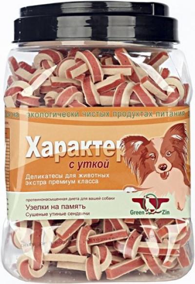-Грин Кьюзин Лакомство для собак Характер (сушеные утиные сендвичи) 750гр арт.60690