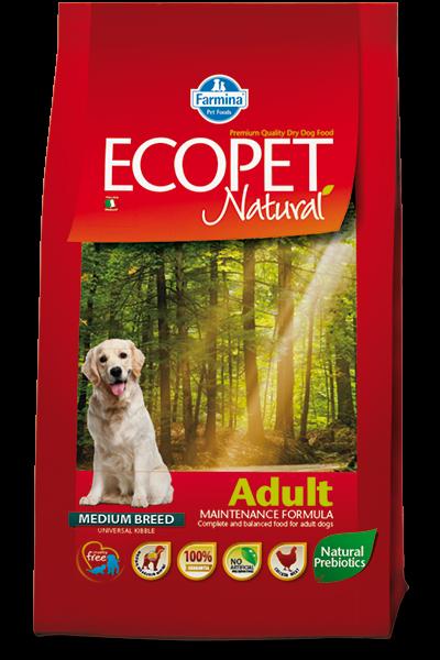 Фармина (ECOPET Natural Adult) сухой корм для собак всех пород, 12 кг арт. 60815