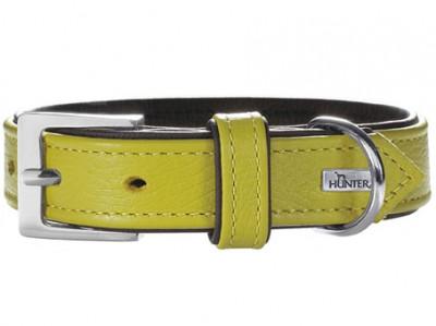 -Hunter ошейник для собак Capri 40 (29-35 см)/1,8 натуральная кожа лайм/черный