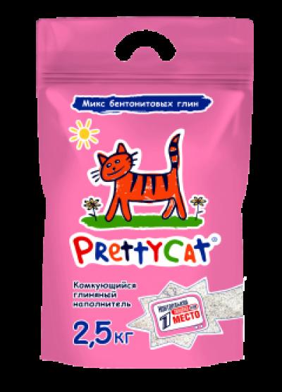 """PrettyCat наполнитель комкующийся для кошачьих туалетов """"Euro Mix"""" 2,5 кг"""
