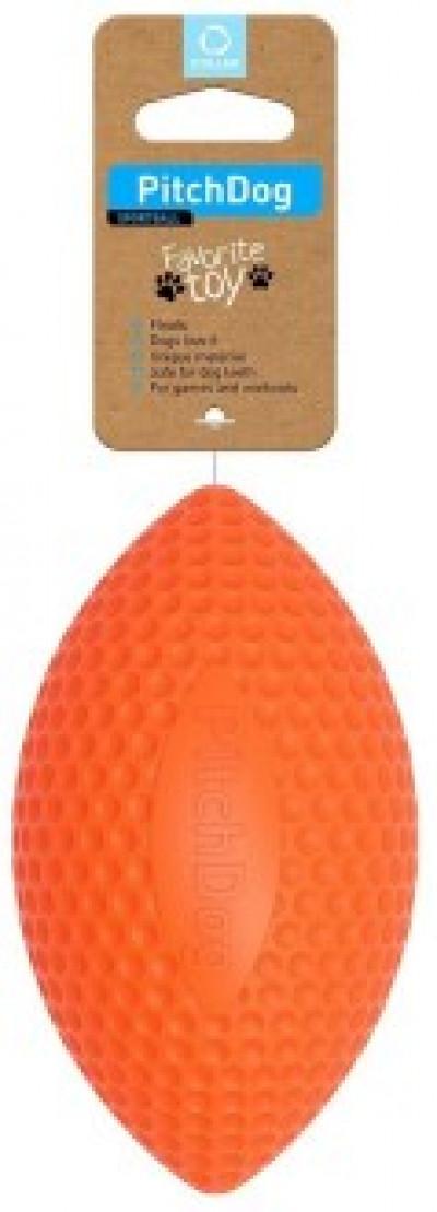 -PitchDog SPORTBALL игровой мяч-регби для апортировки 9 см, оранжевый арт. 62414