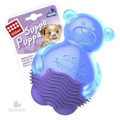 -GiGwi Suppa Puppa игрушка для щенков Мишка с пищалкой 10 см арт.63004