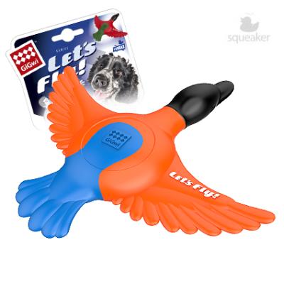 -GiGwi LET S FLY Утка для метания с пищалкой 30 см арт.63007