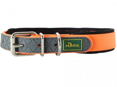 Hunter ошейник для собак Convenience Comfort 35 (22-30 см)/2 см биотановый мягкая горловина оранжевый неон
