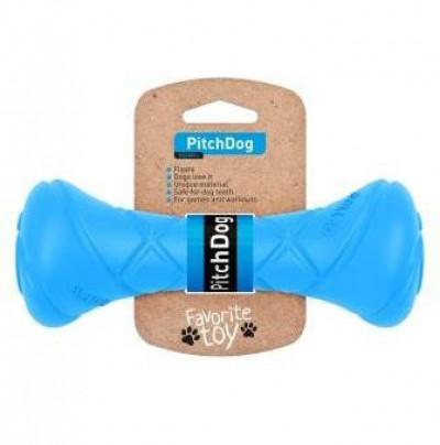 PitchDog Игровая гантель для апортировки, длина 19 см, диаметр 7 см, голубая арт. 62392