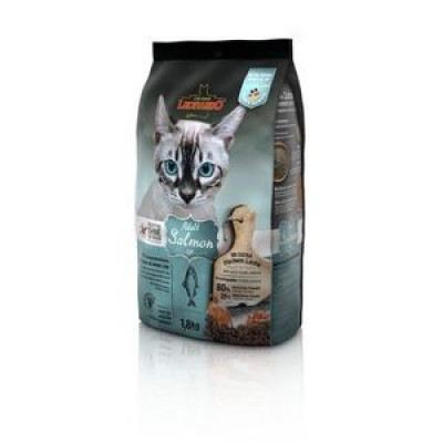 ЛЕОНАРДО Эдалт-Салмон сухой беззерновой корм для взрослых кошек Лосось при чувствительном пищеварении 1,8 кг арт.64470