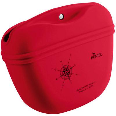 Hunter сумочка для лакомств силиконовая красная