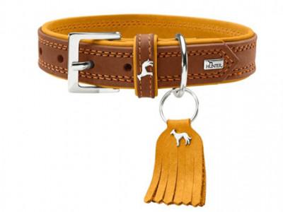 -Hunter ошейник для собак Lucca 50/2,8 (35-42 см) кожа, коричневый