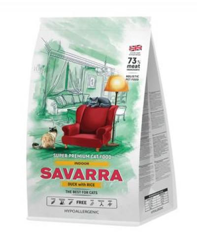 SAVARRA Indoor Adult Cat Сухой корм для взрослых кошек живущих в помещении 400г Утка рис