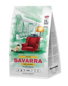 SAVARRA Indoor Adult Cat Сухой корм для взрослых кошек живущих в помещении 2кг Утка рис